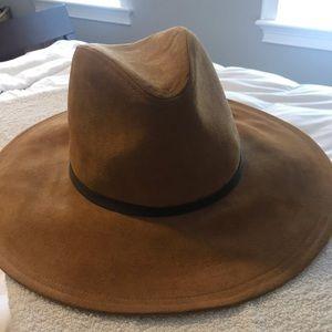 Zara flat brim hat